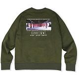 [매스노운]MASSNOUN  더 이빌스 오버핏 맨투맨 티셔츠 MSVCR001-KK 크루넥 스��셔츠