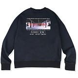 [매스노운]MASSNOUN  더 이빌스 오버핏 맨투맨 티셔츠 MSVCR001-NV 크루넥 스��셔츠