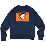 [매스노운]MASSNOUN  커버업 오버핏 맨투맨 티셔츠 MSVCR002-DB 크루넥 스��셔츠