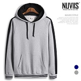 [뉴비스] NUVIIS - 배색라인 라운드 후드 티셔츠 (MD057HD)