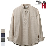 [해리슨] HARRISON 스팅 체크 헨리넥 셔츠 MT1414
