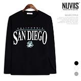 [뉴비스] NUVIIS - 샌디에고 라운드 긴팔 티셔츠 (TR153TS)