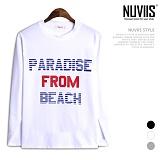 [뉴비스] NUVIIS - 파라다이스 프롬 라운드 긴팔 티셔츠 (TR152TS)