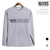 [뉴비스] NUVIIS - 471 프린팅 라운드 긴팔 티셔츠 (TR151TS)