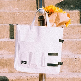 [피스메이커]PIECE MAKER - DOCUMENT TOTE BAG (WHITE) 토트백