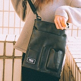 [피스메이커]PIECE MAKER - DOCUMENT MINI CROSS BAG (BLACK) 미니 크로스백
