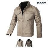 [모니즈] MONIZ  플라켓 레더자켓 JKL142