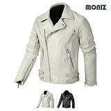 [모니즈] MONIZ  벨트 라이더 레더자켓 JKL135