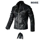[모니즈] MONIZ  멀티지퍼 차이나 레더자켓 JKL130