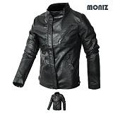 [모니즈] MONIZ  사선지퍼 레더자켓 JKL127