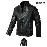 [모니즈] MONIZ  소매지퍼 차이나 레더자켓 JKL124