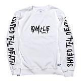 [큐마일] QMILE STD CREWNECK_WHITE 크루넥 맨투맨 스��셔츠