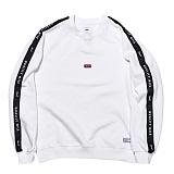 [큐마일] QMILE QUALITY MILE CREWNECK_WHITE 크루넥 맨투맨 스��셔츠