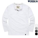 [크루클린] CROOKLYN 2P 헨리넥 긴팔 티셔츠 THL713 긴팔티 롱슬리브
