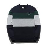 [플루크] FLUKE 17 S/S PREMIUM 배색 크루넥 맨투맨 티셔츠 FMT017C312 크루넥 스��셔츠