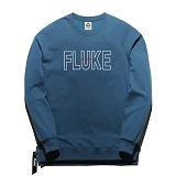 [플루크] FLUKE 17 S/S 사이드 지퍼 크루넥 맨투맨 티셔츠 FMT017C310DB 크루넥 스��셔츠