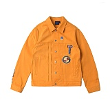 [로맨틱크라운]ROMANTIC CROWN - Day Off Trucker Jacket_Mustard 트러커자켓