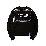 [로맨틱크라운]ROMANTIC CROWN - Big logo crew neck_Black 크루넥 스��셔츠 맨투맨