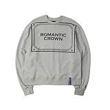 [로맨틱크라운]ROMANTIC CROWN - Big logo crew neck_Gray 크루넥 스��셔츠 맨투맨