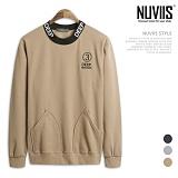 [뉴비스] NUVIIS - 딥 자수 포켓 맨투맨 (CS054MT)