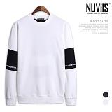 [뉴비스] NUVIIS - 소매 배색 나염 맨투맨 (CS055MT)