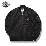 [LOROPOP]로로팝 Shirring Basic MA-1 Jacket 셔링베이직 - BLACK 자켓