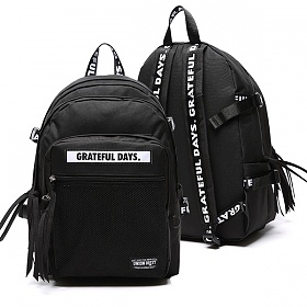 [유니온오브제] UNIONOBJET - 3D MESH BACKPACK M02 BLACK 3D백팩
