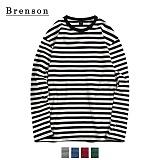 [Brenson]브렌슨 - 루즈핏 롱스트라이프 롱슬리브 티셔츠 4컬러