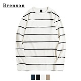 [Brenson]브렌슨 - 핀스트라이프 롱슬리브리스 티셔츠 4컬러