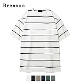 [Brenson]브렌슨 - 루즈핏 핀스트라이프 사이드절개 티셔츠 6컬러