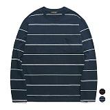 밴웍스 멀티 스트라이프 포켓 티셔츠 (VNAGTS012)_2colors 루즈핏 롱슬리브 긴팔티