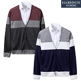 [해리슨] HARRISION 삼단배색가디건 CS1125