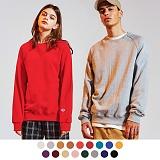 [9월29일 예약배송][어커버]ACOVER - [1+1]Terry Tumble Crewneck Sweatshirts 넥포인트 쭈리 무지 맨투맨 크루넥 스��셔츠