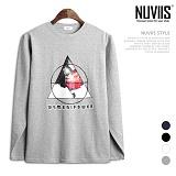 [뉴비스] NUVIIS - 오로라 삼각 라운드 긴팔 티셔츠 (TR169TS)