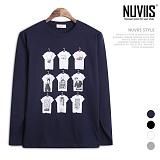 뉴비스 - 6 티셔츠 라운드 긴팔 티셔츠 (TR167TS)