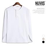 [뉴비스] NUVIIS - 큰마이 헨리넥 긴팔티셔츠 (TR163TS)