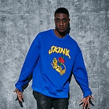 AROUND 80 - SKINK SWEAT SHIRTS_COBALT 자수 맨투맨
