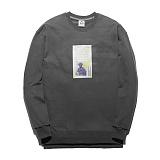 [플루크] FLUKE 17 S/S 아트웍 pigment 크루넥 맨투맨 티셔츠 FMT017C345GY