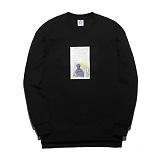 [플루크] FLUKE 17 S/S 아트웍 pigment 크루넥 맨투맨 티셔츠 FMT017C345BK