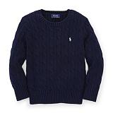 [폴로]POLO 폴로랄프로렌 말자수 꽈배기 니트 스웨터 긴팔티셔츠 네이비(화이트로고) POLO 남녀공용 정품 국내배송