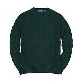 [폴로]POLO 폴로랄프로렌  말자수 꽈배기 니트 스웨터 긴팔티셔츠 그린(블루로고) POLO 남녀공용 정품 국내배송
