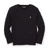 [폴로]POLO 폴로랄프로렌 말자수 꽈배기 니트 스웨터 긴팔티셔츠 검정(화이트로고) POLO 남녀공용 정품 국내배송