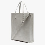 [피스메이커]PIECE MAKER - LEATHER SQUARE SHOULDER&TOTE (LIGHT GREY)