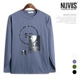 [뉴비스] NUVIIS - 심플 52번가 프린팅 긴팔티셔츠 (TR171TS)