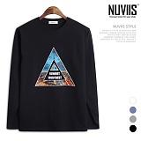 [뉴비스] NUVIIS - 심플 삼각탑 프린팅 긴팔티셔츠 (TR170TS)