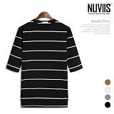 [뉴비스] NUVIIS - 모던 단가라 7부 티셔츠 (TR174TS)
