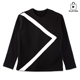 [플레이언] Arrow Round Neck_black(17PLAYT-A03bk) 맨투맨 블랙