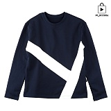 [플레이언] Y Cut Round Neck_navy(17PLAYT-A02nv) 맨투맨 네이비