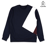 [플레이언] Invert Round Neck_navy(17PLAYT-A01nv) 맨투맨 네이비
