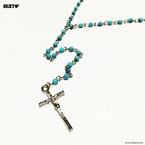 SEXTO - [Handmade]F-Rosario Necklace BLUE